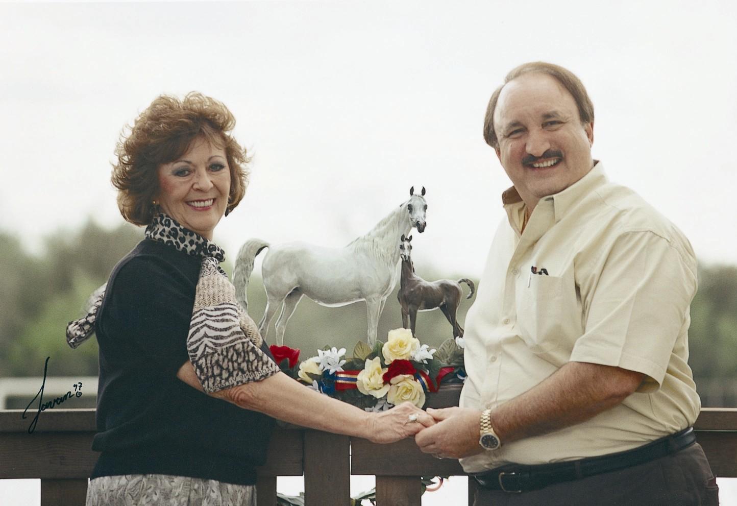 Jim and Judy w Magidaa Imaage bronze